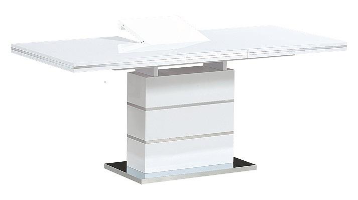Кухонный стол-трансформер в стиле модерн STAR (белый лак)