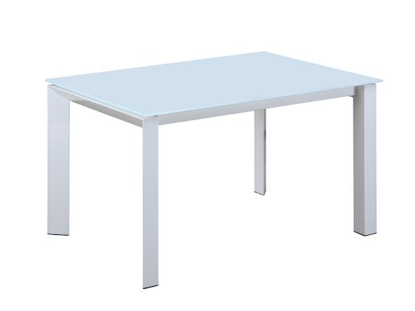 Раскладной стол со стеклянной столешницей ICEBERG (1,4) (белый)
