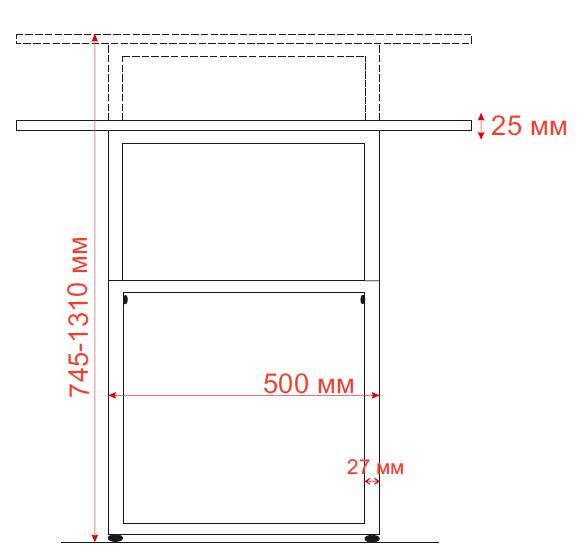 Stol Smart s mehanicheskoj regulirovkoj vysoty dlja raboty stoja i sidja