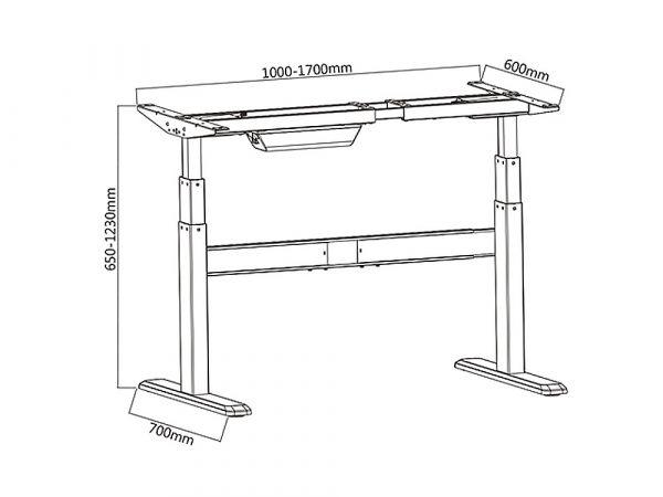 Стол электро-регулируемый по высоте Вида с сенсорной панелью