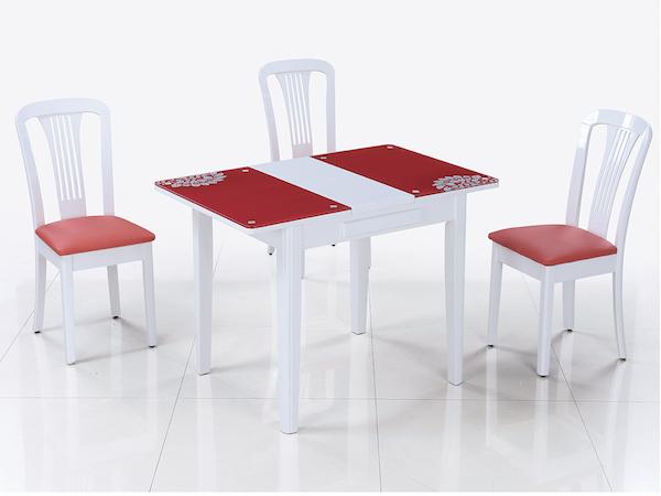 Обеденный стол-трансформер LOTUS (красный)
