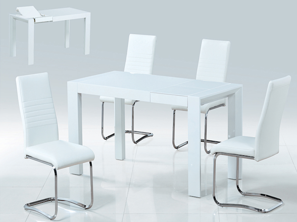 Стол в стиле модерн (трансформер) SMART (белый)