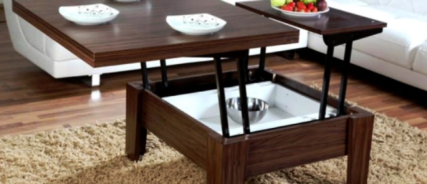 Пространство гостиной: подбираем столик трансформер для гостиной