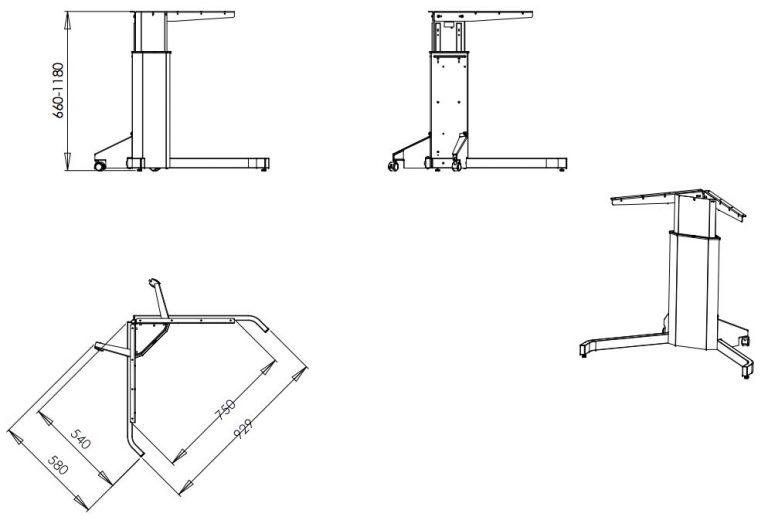 Стол с электроприводом Уно 5